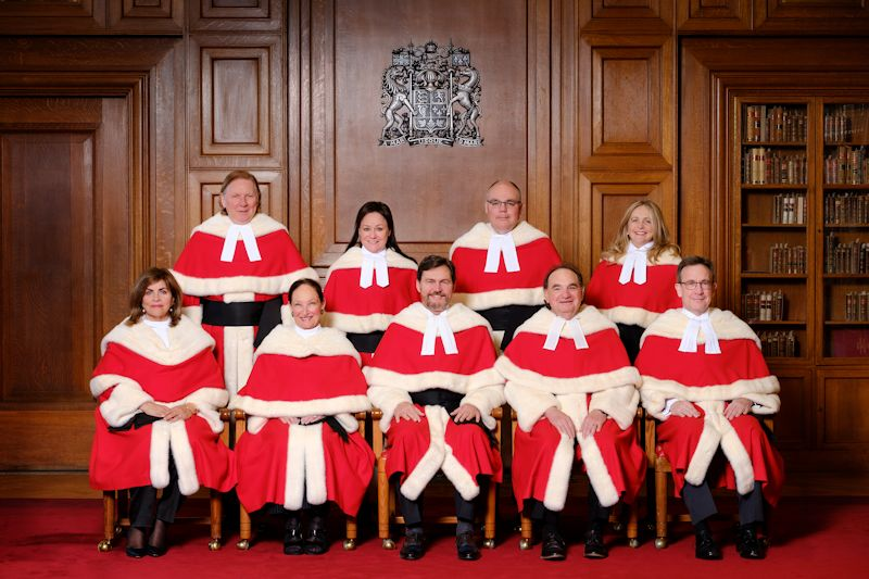 Group photograph of current nine judges