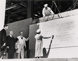Photo - The laying of the cornerstone