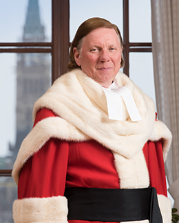 Malcolm Rowe in red ceremonial robe
